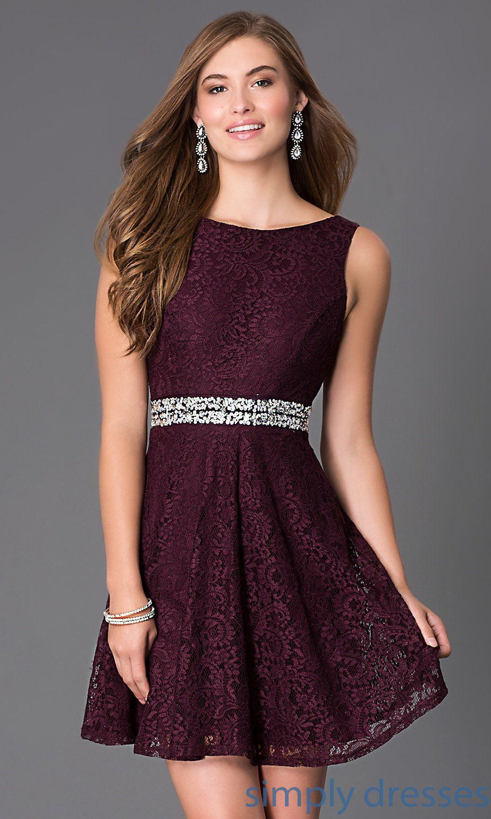 Short Sleeveless Lace Dress D63621H114