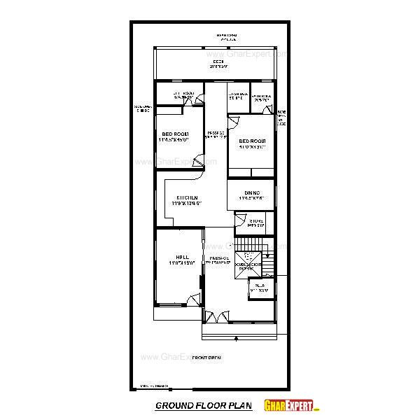 Charming House Plan For 39 Feet By 90 Feet Plot (Plot Size 153 Square Yards)