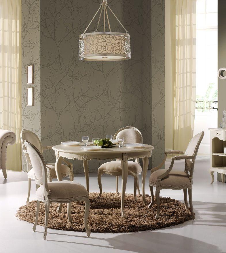 Mesa de comedor cl sica loras mesas comedor redondas for Mesas de comedor blancas