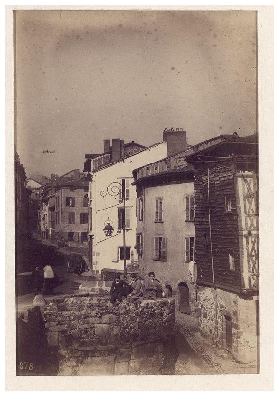 Enfants sur le pont Saint-Martial, vers 1875-80, Jean-Baptiste Audiguet (1811-1897). Bfm Limoges http://www.bn-limousin.fr/items/show/295