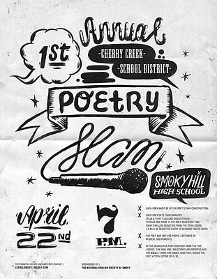 All My Pistachios: Poetry Slam Flyer   design love...   Pinterest ...