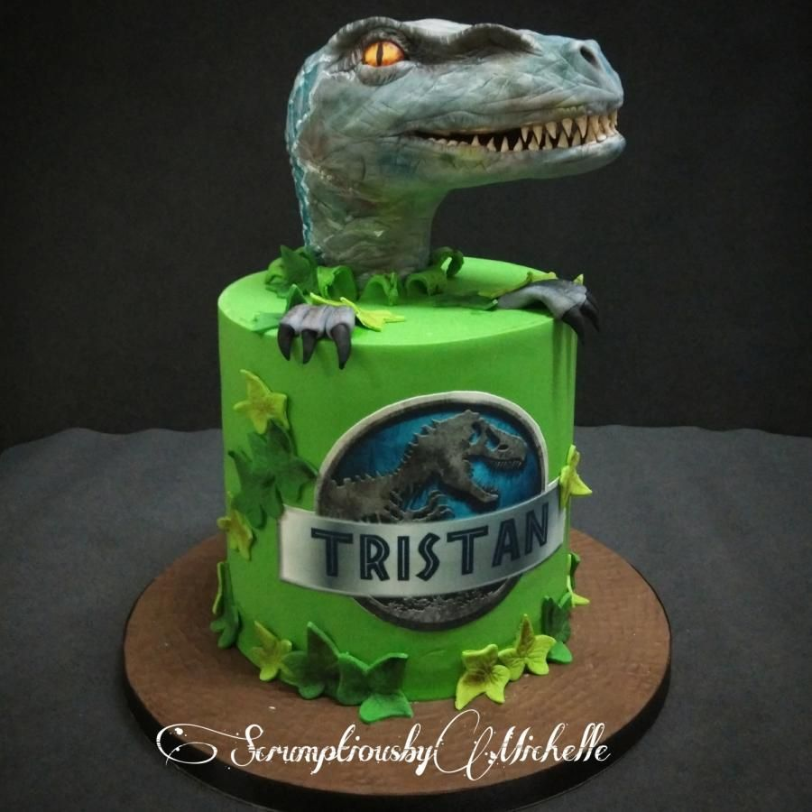 Jurassic Park Cake With Raptor By Michelle Chan Jurassic World