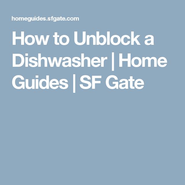 How To Unblock A Dishwasher Viburnum Propagation Corn Seed