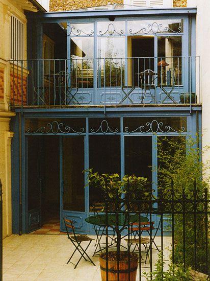 Véranda et façade en fer forgé | Façade maison, Extension maison, Veranda maison