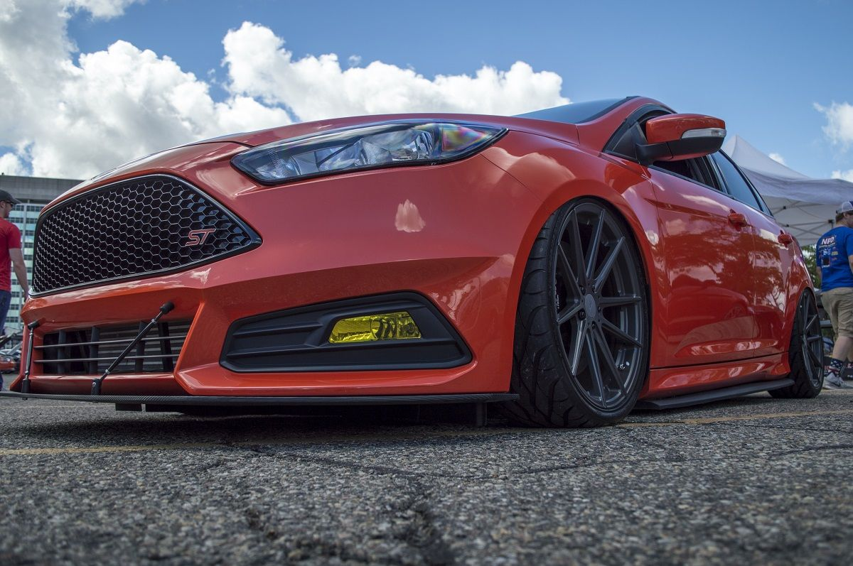 Check Out Our Focus St Sitting Pretty On Air Lift Suspension And Tsw Bathurst Wheels Available On The Cj Website Today Ford Focus Ford Focus St Ford