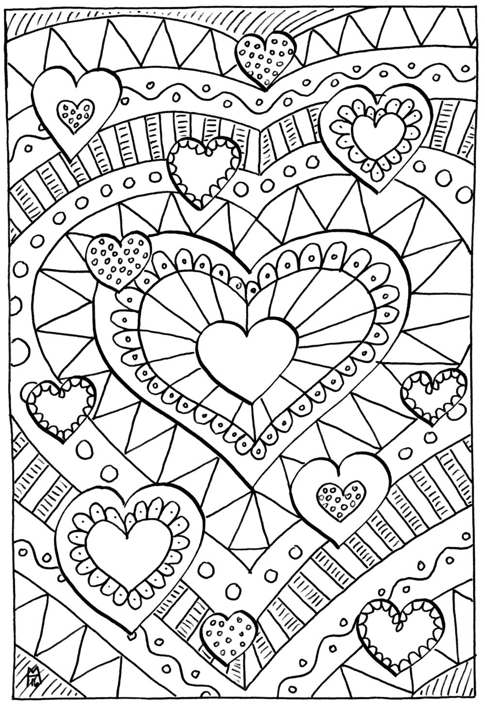 Healing Hearts Coloring Page  Heart coloring pages, Love coloring