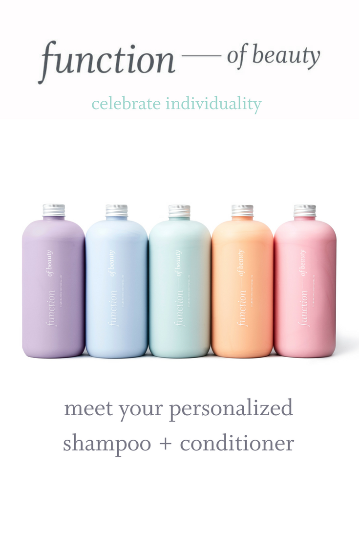 Personalized Shampoo + Conditioner from Function of Beauty
