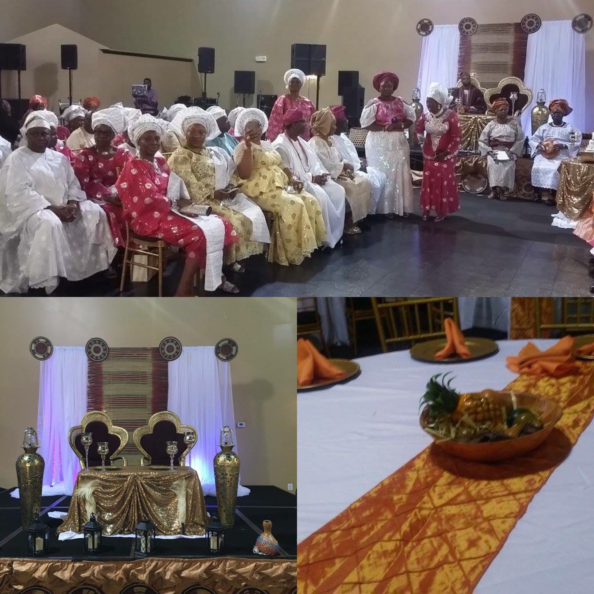 Nigerian wedding decoration images  Family and friends gather for a traditional nigerianwedding