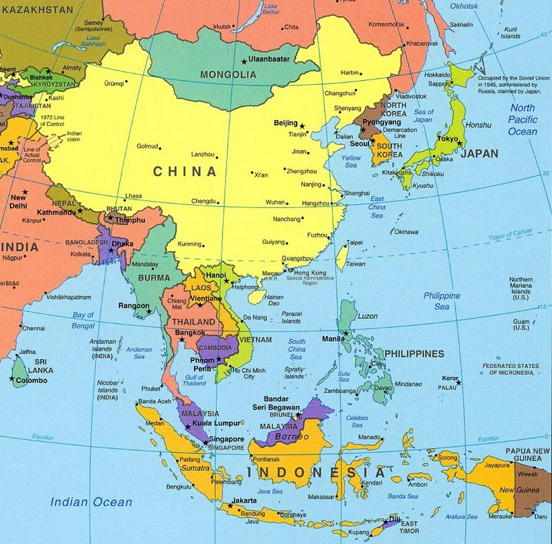 Map Of Asia Asia Map Political Map China Map