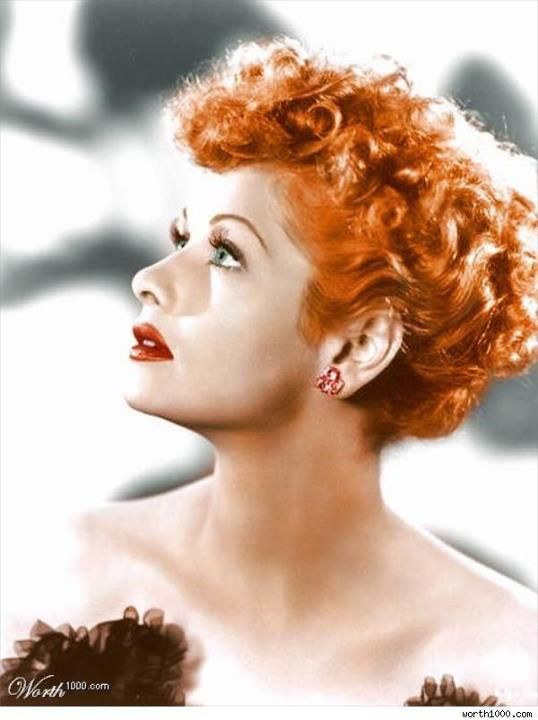 Lucille Ball, the inspiration of LUCY-bright orange opaque