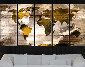 Large abstract world map canvas wall art vintage world map canvas large abstract world map canvas wall art vintage world map gumiabroncs Gallery