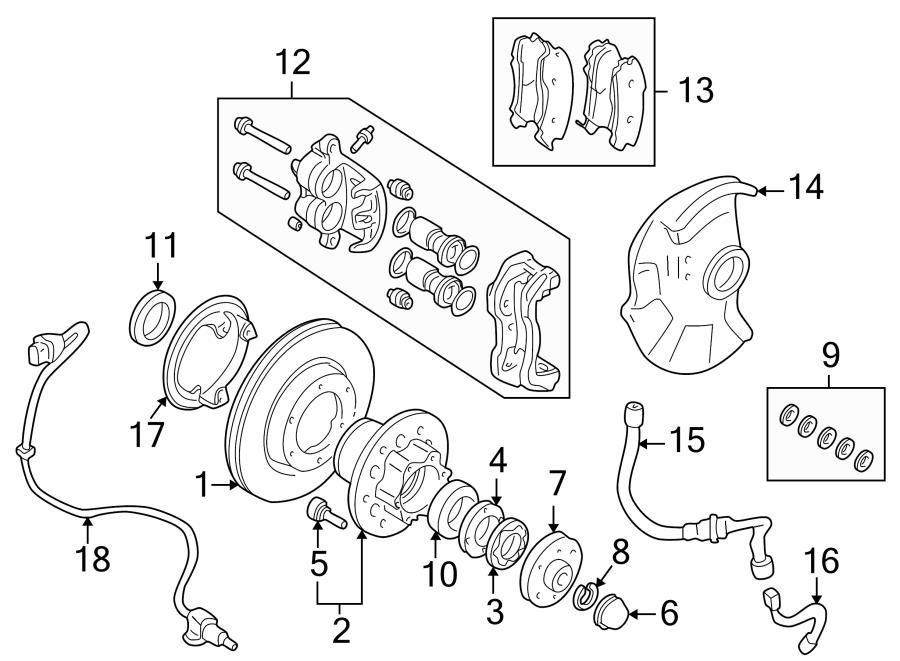 Brake Components Front Suspension Fits Mitsubishi Montero Sport