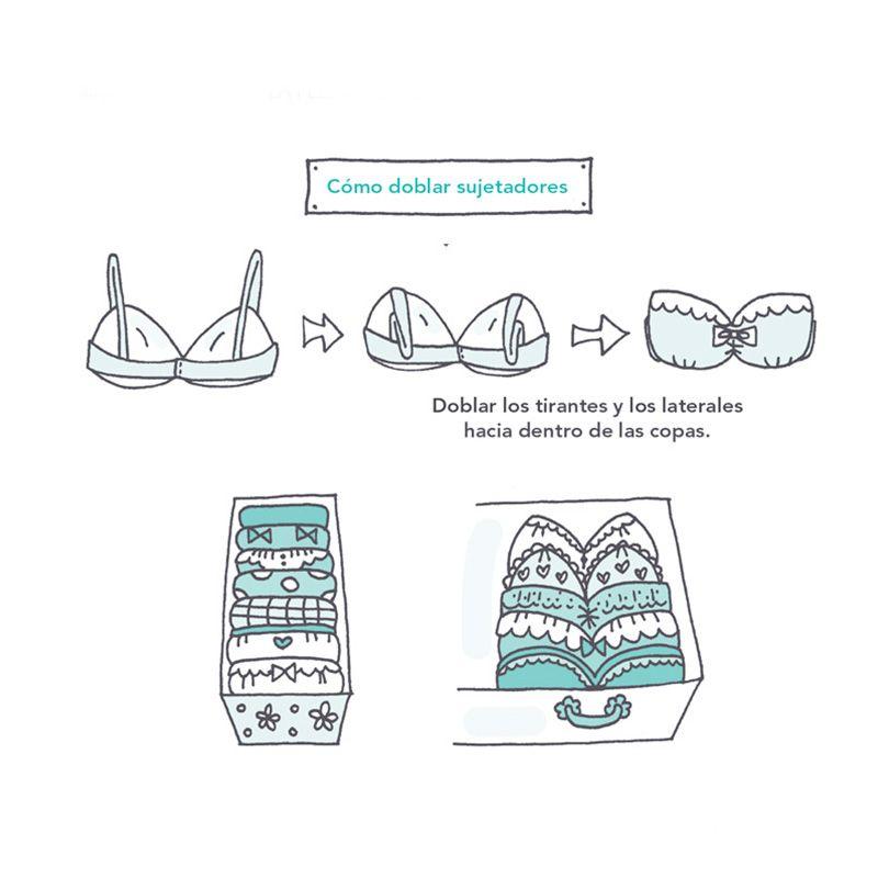 c mo doblar sujetadores marie kondo trucos para la casa en 2019 pinterest konmari metodo. Black Bedroom Furniture Sets. Home Design Ideas