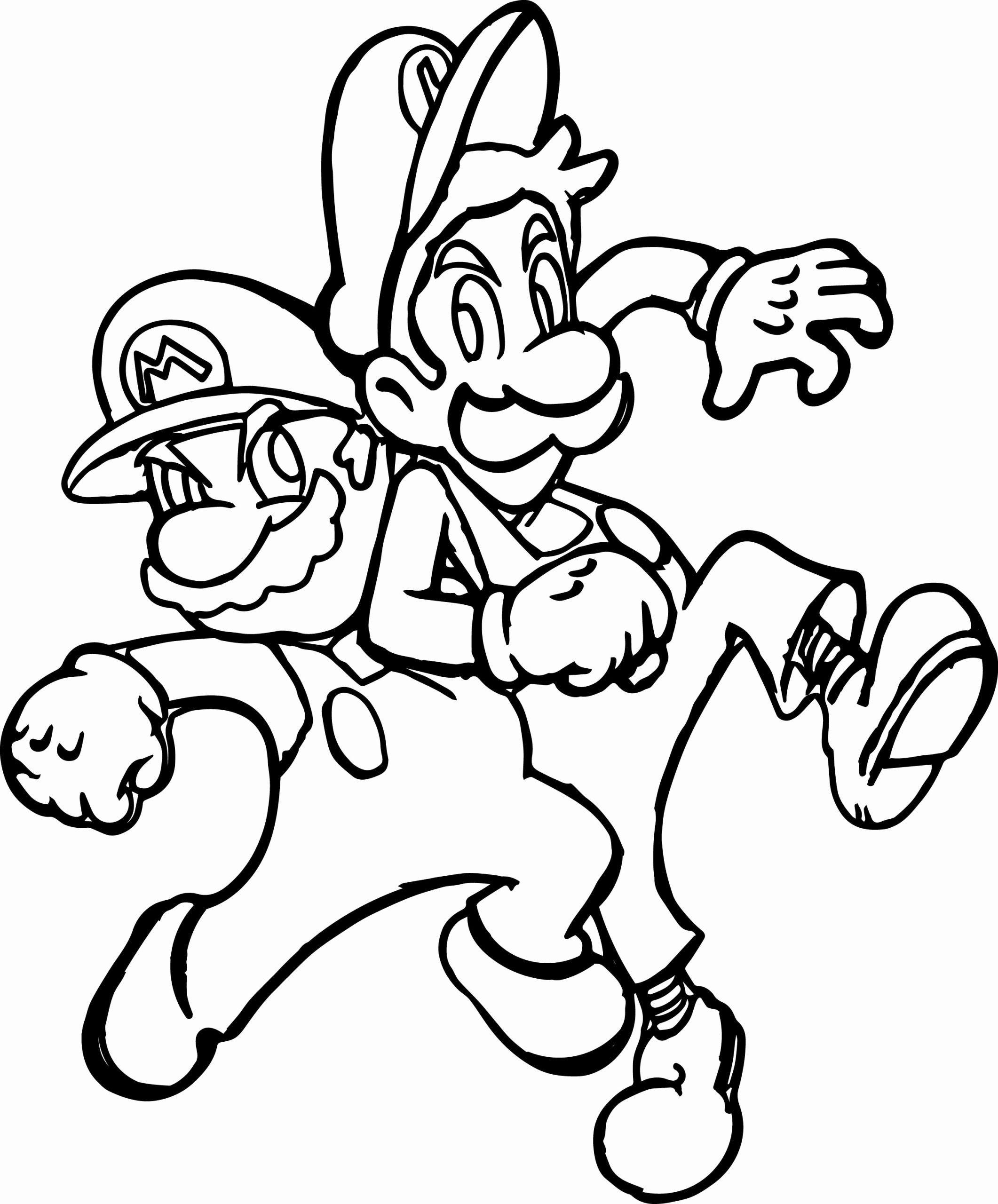 Mario And Luigi Coloring Page Luxury Super Mario And Luigi Challenge Coloring Page Mario And Luigi Coloring Pages Halloween Coloring Pages