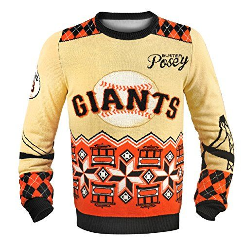 Buster Posey San Francisco Giants #28 Jersey Ugly Chistmas Sweater (XL)