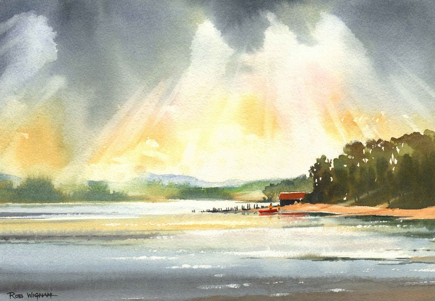 Moray 1 Rob Wigham Watercolours Watercolor Gallery Art
