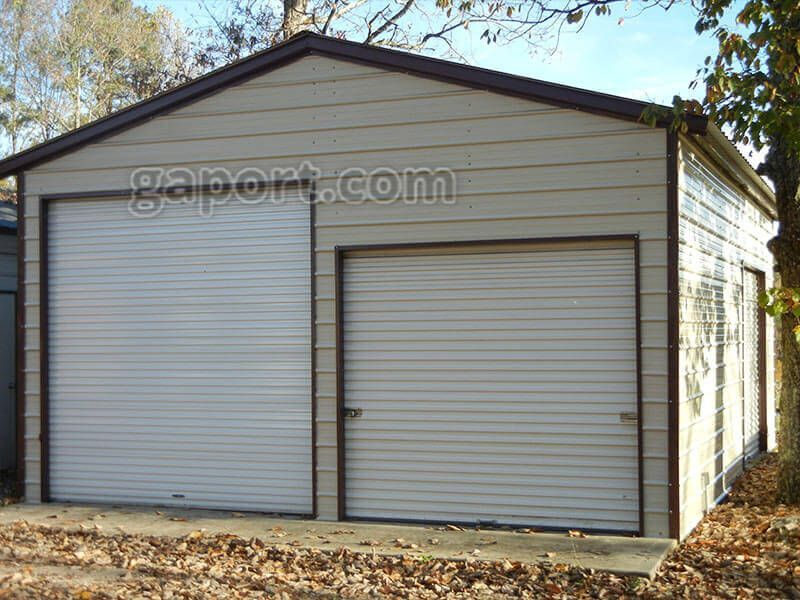 These Metal Garages Are Available In North Carolina South Carolina Garageplans In 2020 Garage Door Styles Metal Garages Contemporary Garage Doors