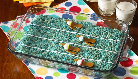 Dive in to decorating this full pan of Rice Krispies Treats® with ...