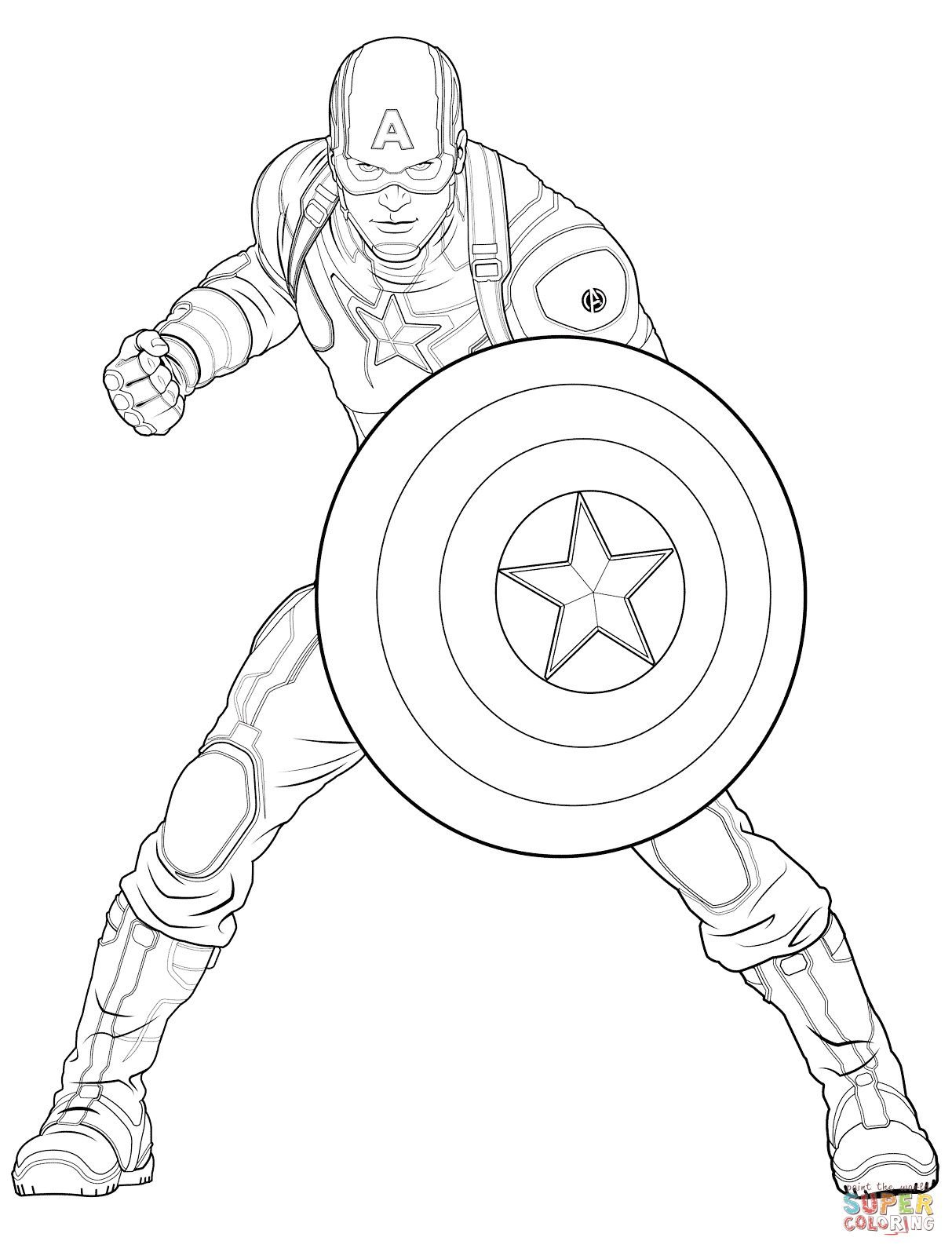13 Nice Coloriage Capitaine America Photos Coloriage Super Heros