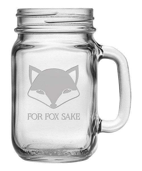 Look at this 'For Fox Sake' Drinking Jar - Set of Four on #zulily today!