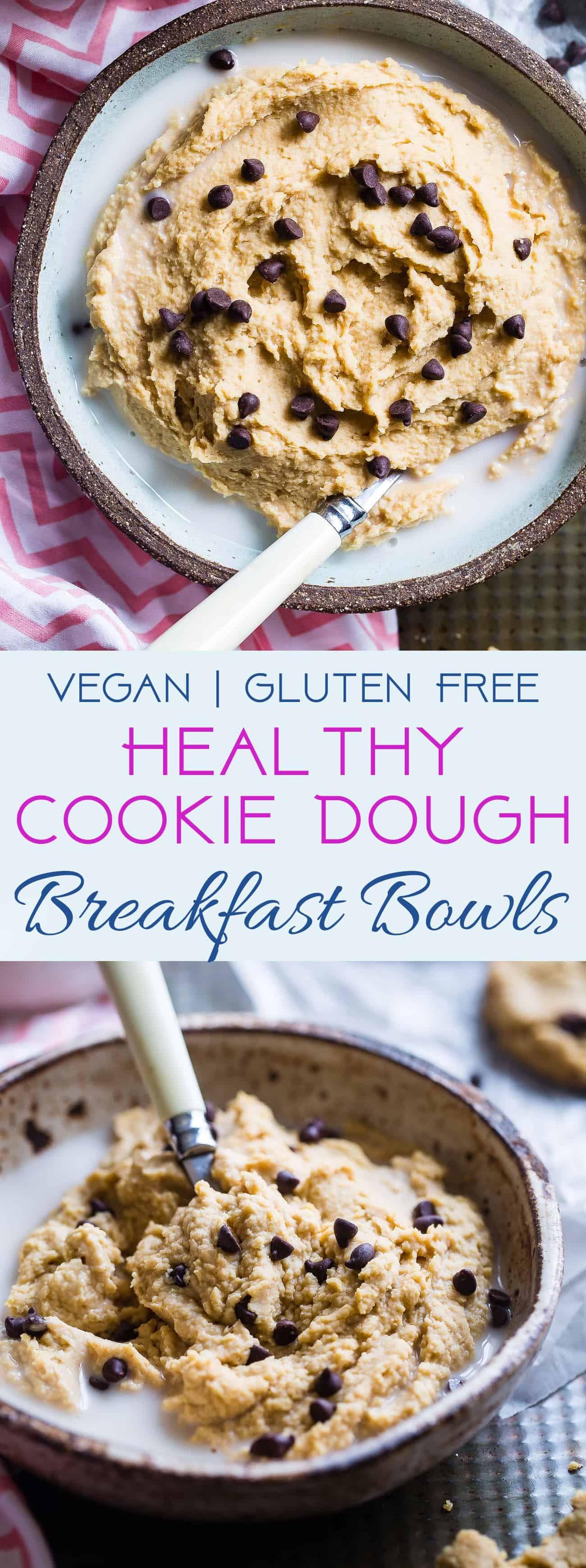 Vegan Chickpea Cookie Dough Bowls | Food Faith Fitness
