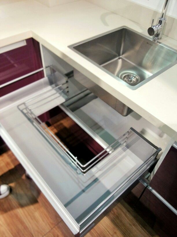 This Is A U Shaped Drawer Under A Sink The Space Under The Sink