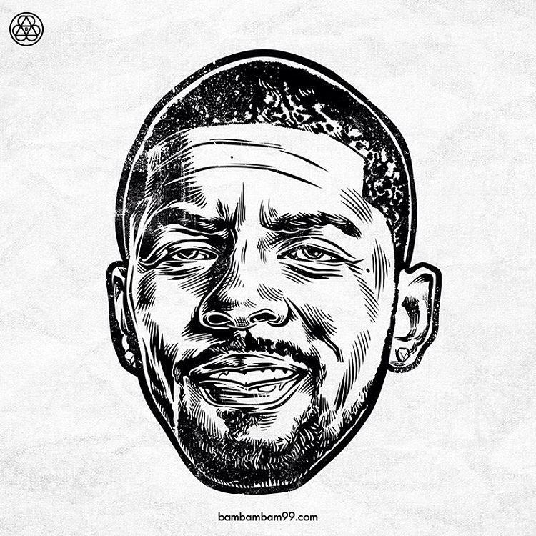 Bien connu Kyrie Irving 'Noir et Blanc' Portrait | NBA Art | Pinterest  QS59
