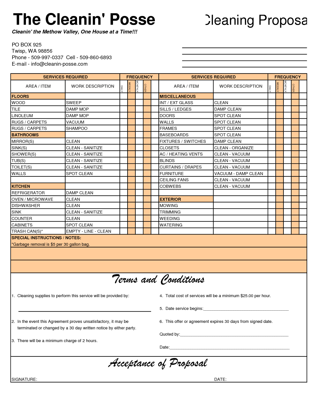 Cleaning Invoice Template Cleaning Invoice Template Free