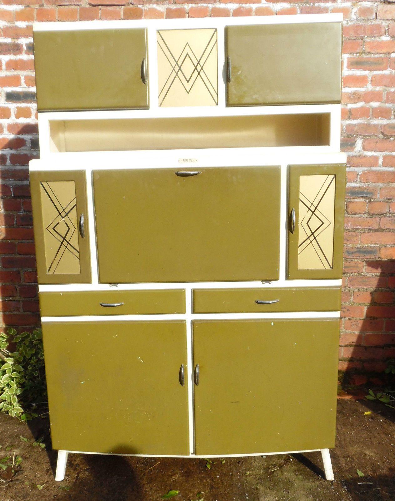 Vintage Prestige Kitchenette Larder Pantry Safe Kitchen Cabinet 50s 60s Retro Cabinet Kitchen Safe Cabinet