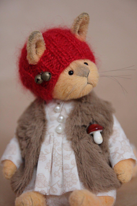 Сollectible Soft Toy Squirrel Eileen, Stuffed teddy bear
