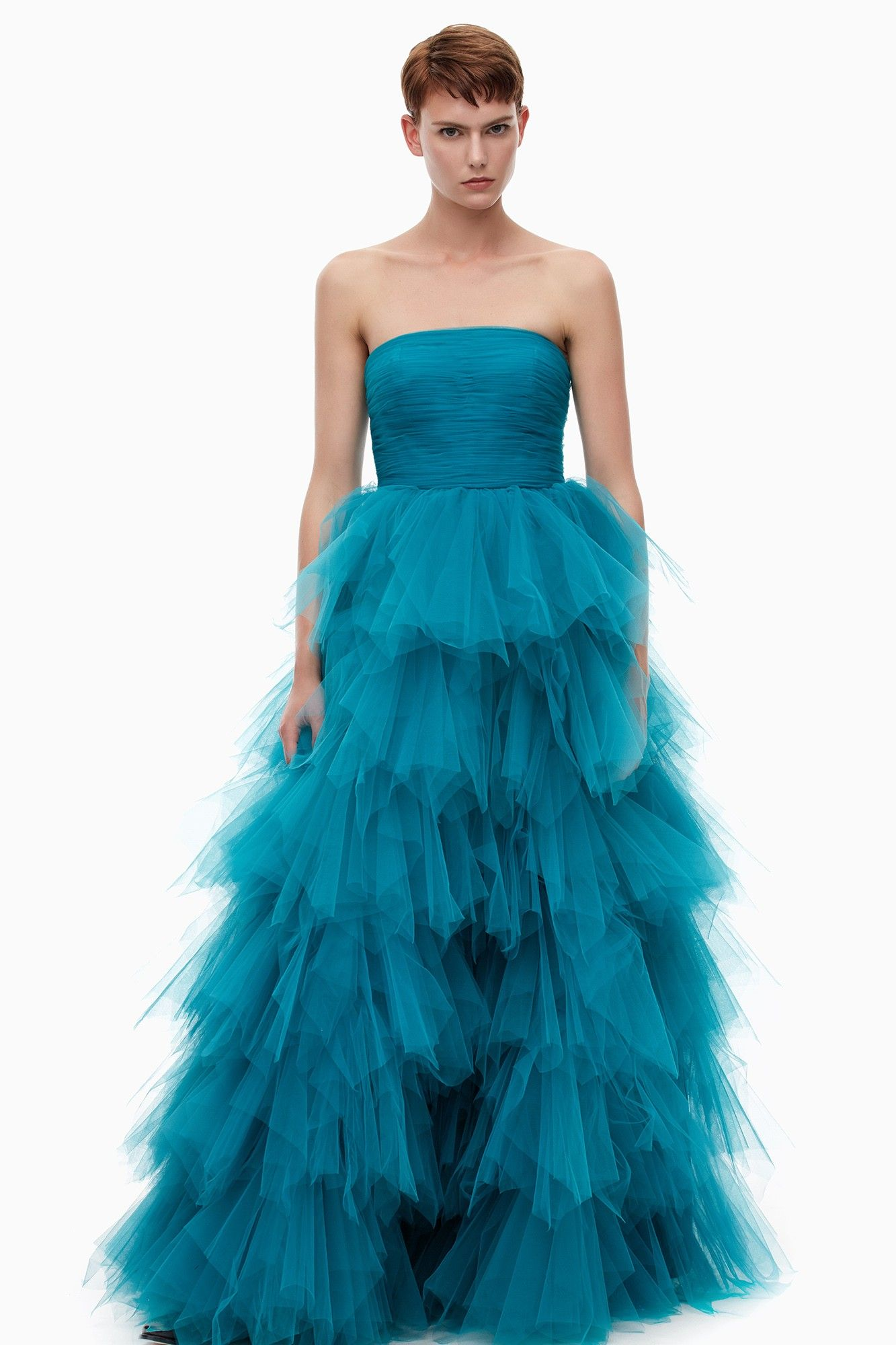 Vestido largo de inspiración bailarina - colección | Adolfo ...