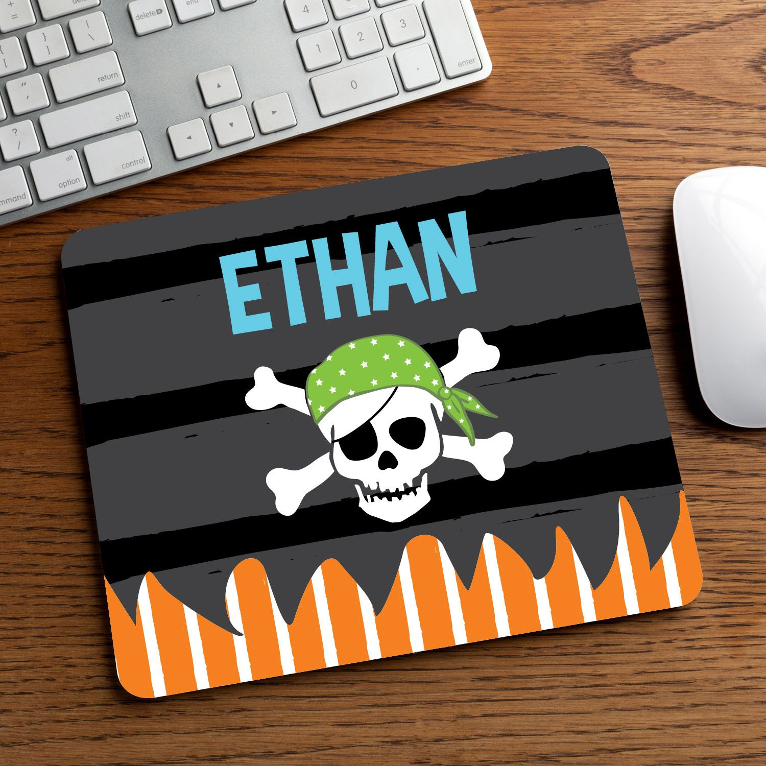 Give a pirate this personalized mouse pad!