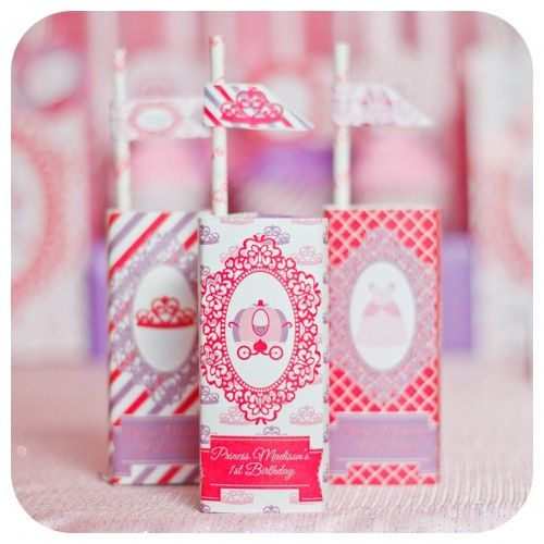 Pretty Princess Juice Box Wrappers
