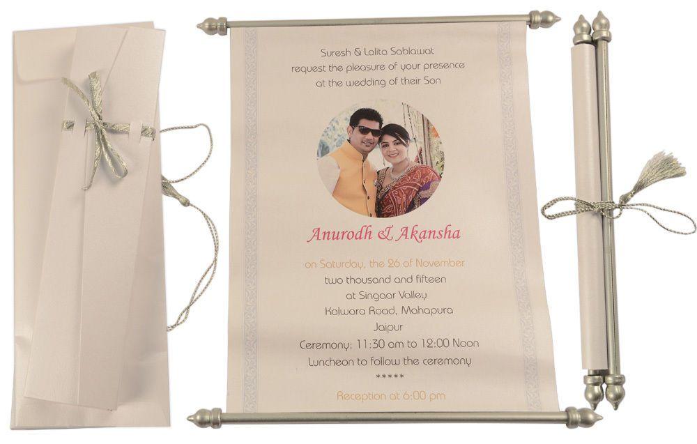 scroll wedding invitation, wedding scroll invitation, wedding ...