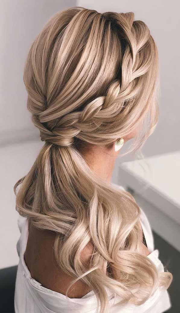 Ponytail Updos For Weddings Ponytail Hairstyles Ponytail Hairstyles 2020 Wedding Ponytail Prom Hai Hair Styles Tail Hairstyle Prom Hairstyles For Long Hair