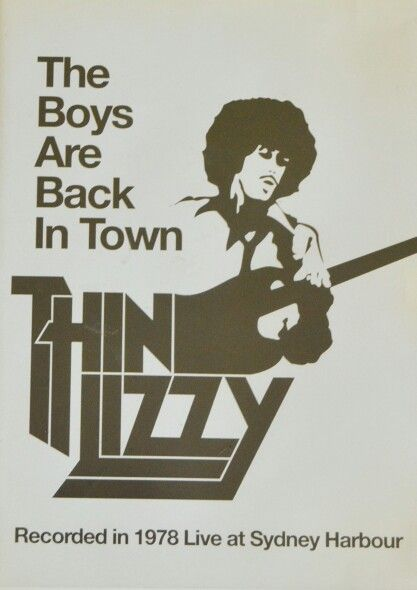 The Boys Are Back In Town Thin Lizzy Music Poster Concert Posters Rock Concert
