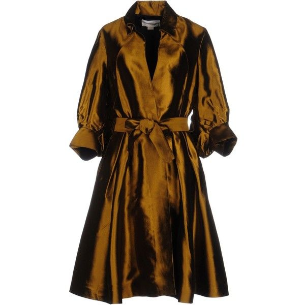 Antonio Berardi Overcoat ($740) ❤ liked on Polyvore featuring outerwear, coats, military green, single-breasted trench coats, brown coat, antonio berardi, olive coat and over coat
