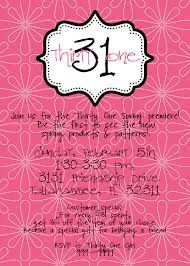 thirty one party invitation wording - Google Search