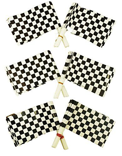 Dazzling Toys Plastic Racing Checkered Flags Pack of 36