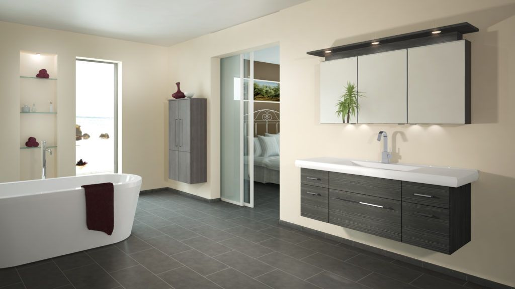 Badezimmer Hinreißend Bad Fliesen Anthrazit Weiß Ideen Creativbad - wie bad fliesen