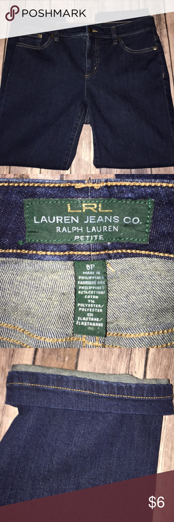 online store first rate large discount LRL Lauren Jeans Co Ralph Lauren petite jeans 8P LRL Lauren ...