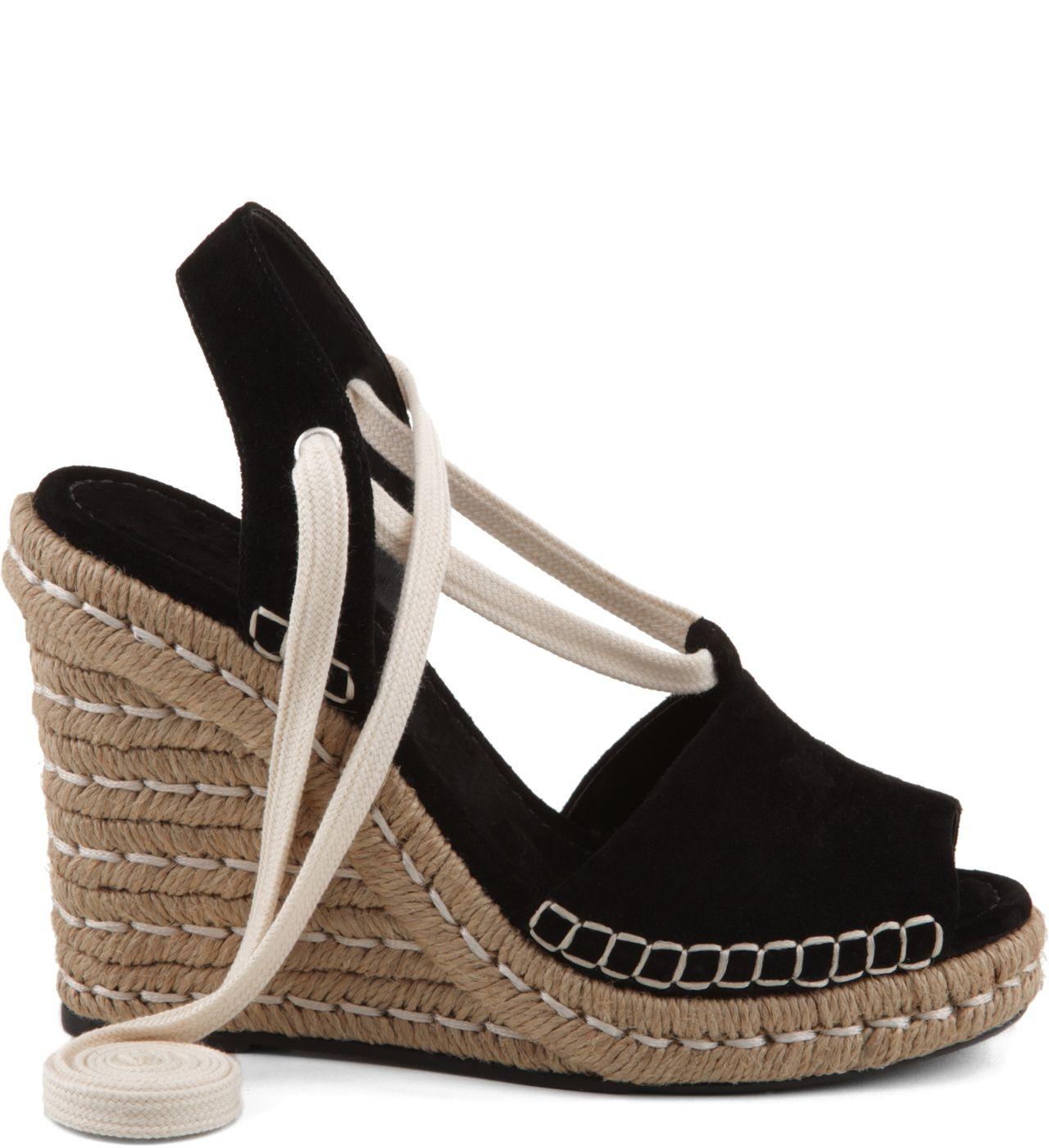 eb686f34e ESPADRILLE ANABELA JUTA BLACK | Schutz shoes | Espadrilles, Shoes e ...