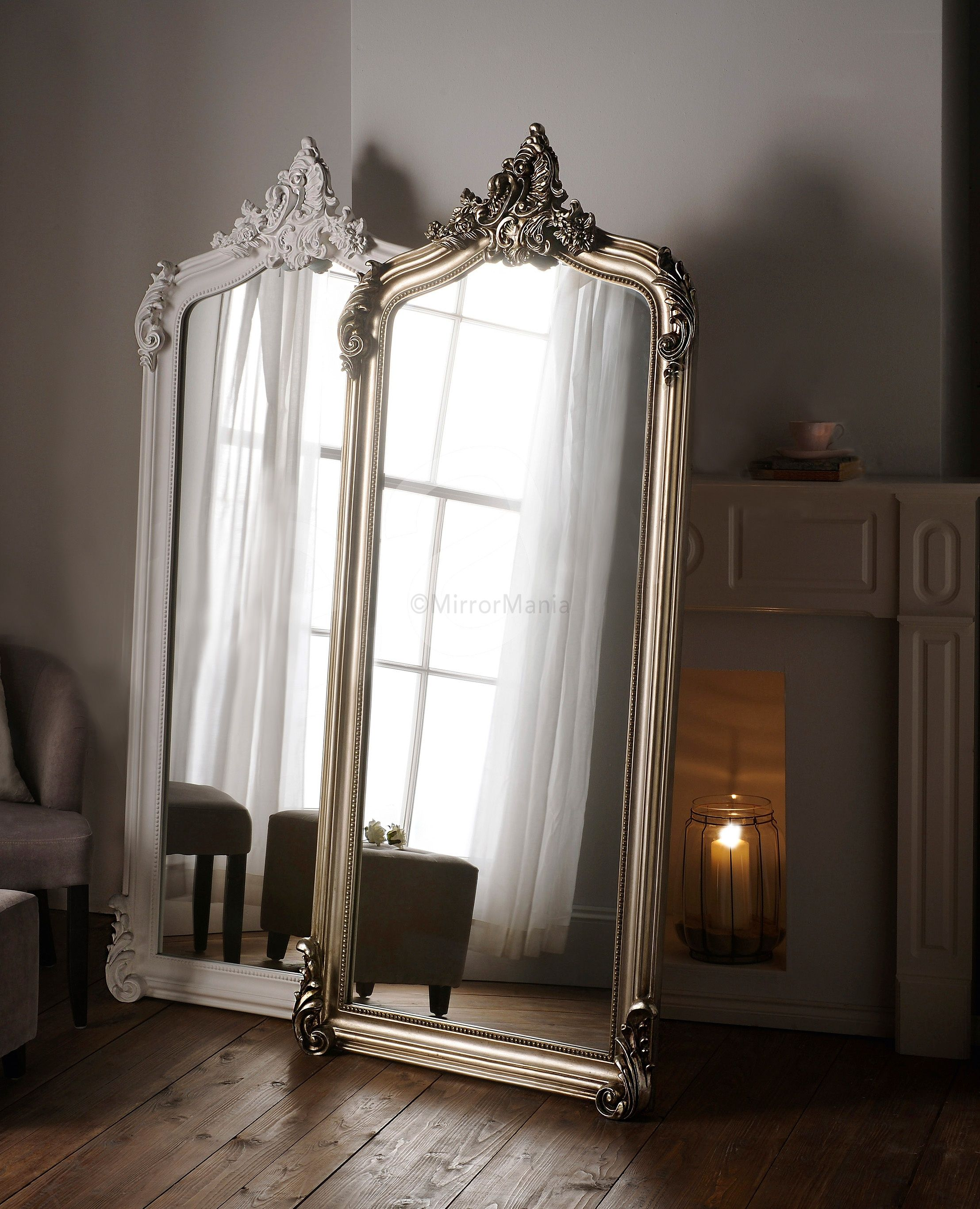 Nicoli ornate swept framed full length mirror all for Full length wall mirrors for bedroom