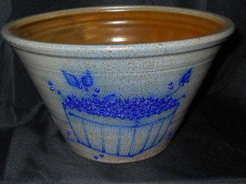 Salmon Falls Salt Glaze Stoneware Pottery Jar Pot Blueberry Basket Dover NH | eBay