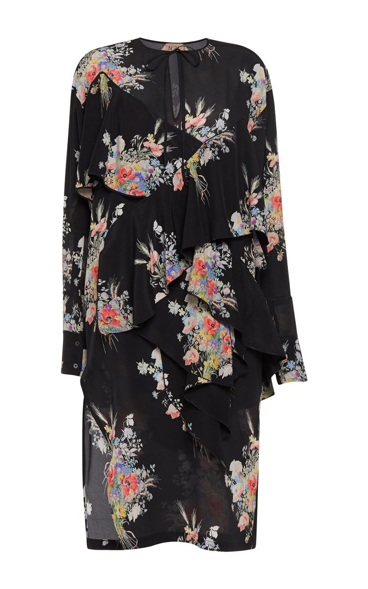 Cara Ruffled Floral Dress by NO. 21 for Preorder on Moda Operandi