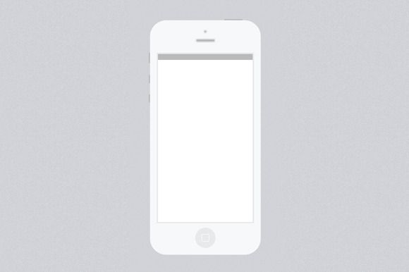 Minimal White iPhone 5 PSD Template by Andmade on Creative Market ...