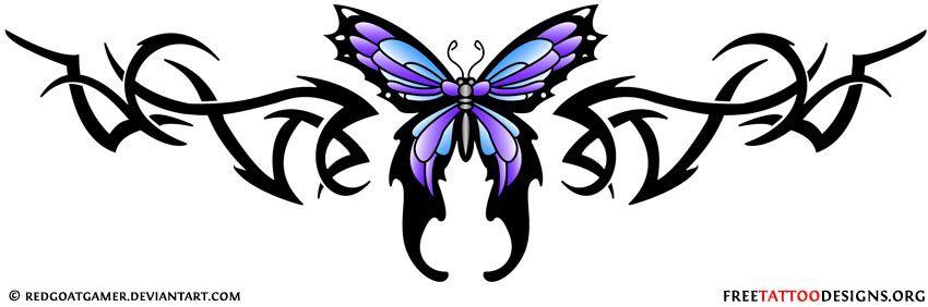 Lower Back Tribal Butterfly Tattoo Design Lower Back Tattoos Tribal Butterfly Tattoo Girl Back Tattoos
