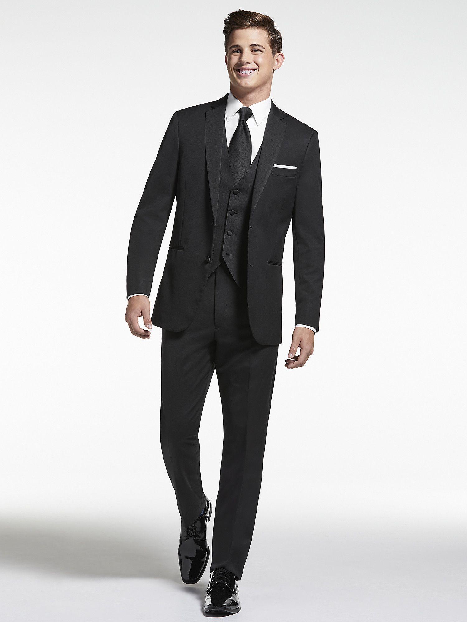 BLACK By Vera Wang Black Notch Lapel Tux in 2020 Tuxedo