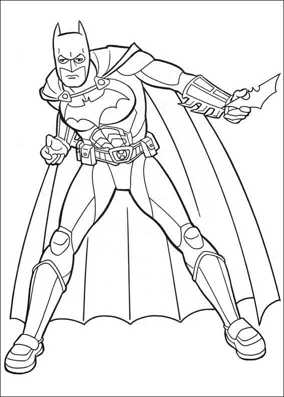 Batman Fargelegging For Barn Tegninger Utskrift Og