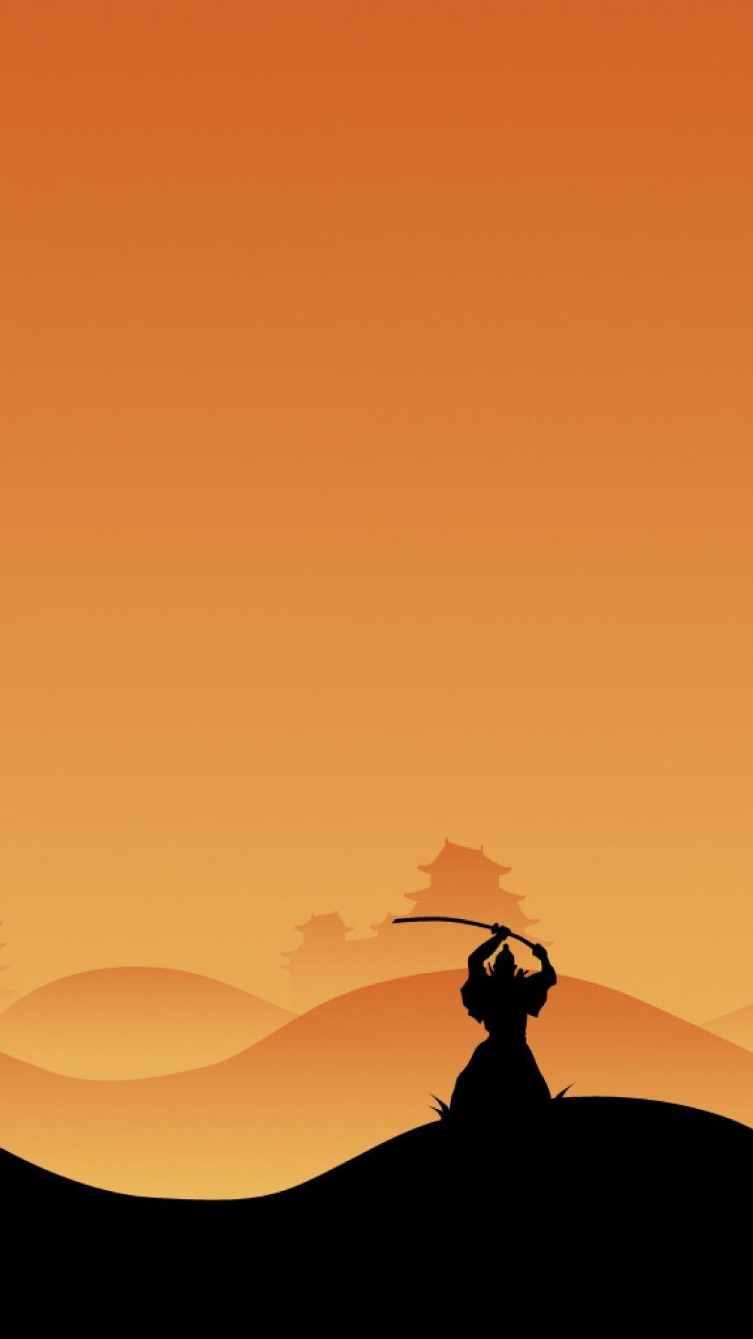 1080x1920 Wallpaper Samurai Night Silhouette Fotos Pintura